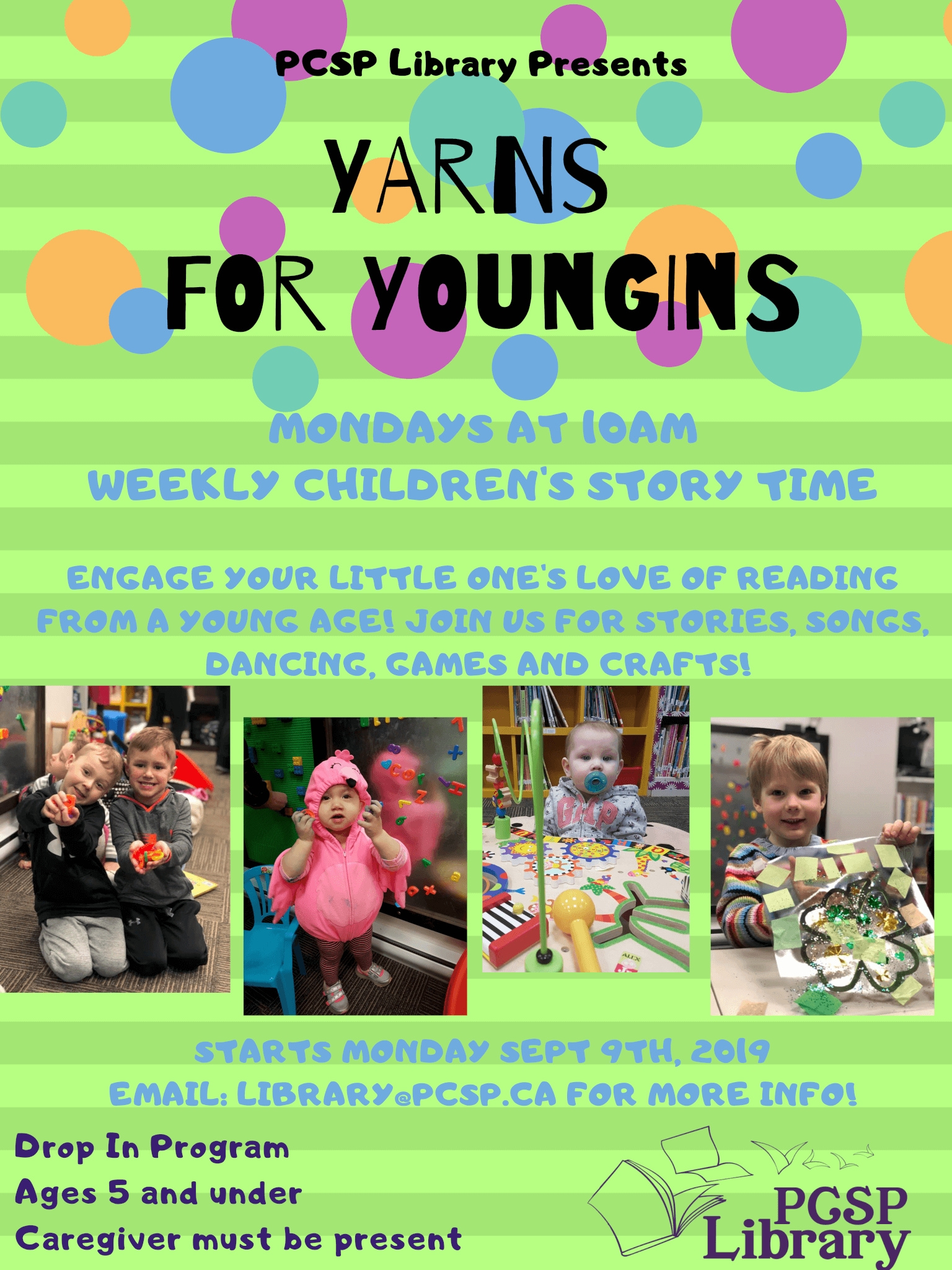 Yarns for Youngins Moved to Mondays | Town of Portugal Cove